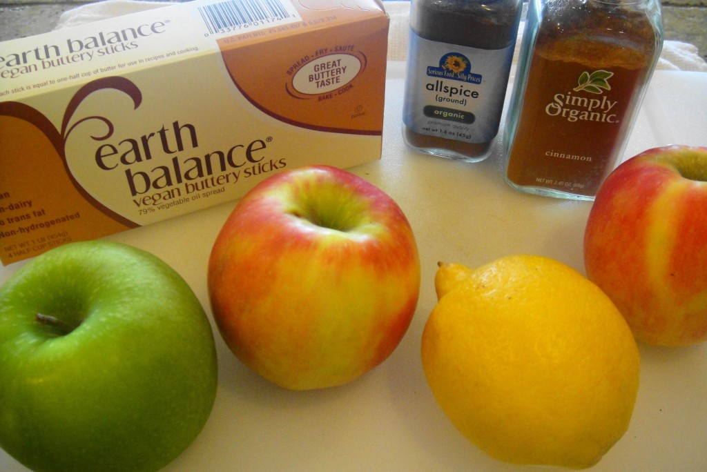 Apple Pie Ingredients together
