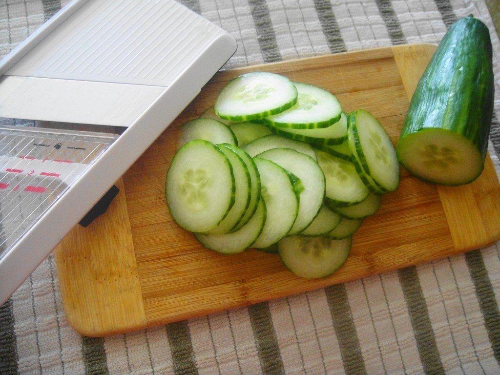 cucumber slices mandoline