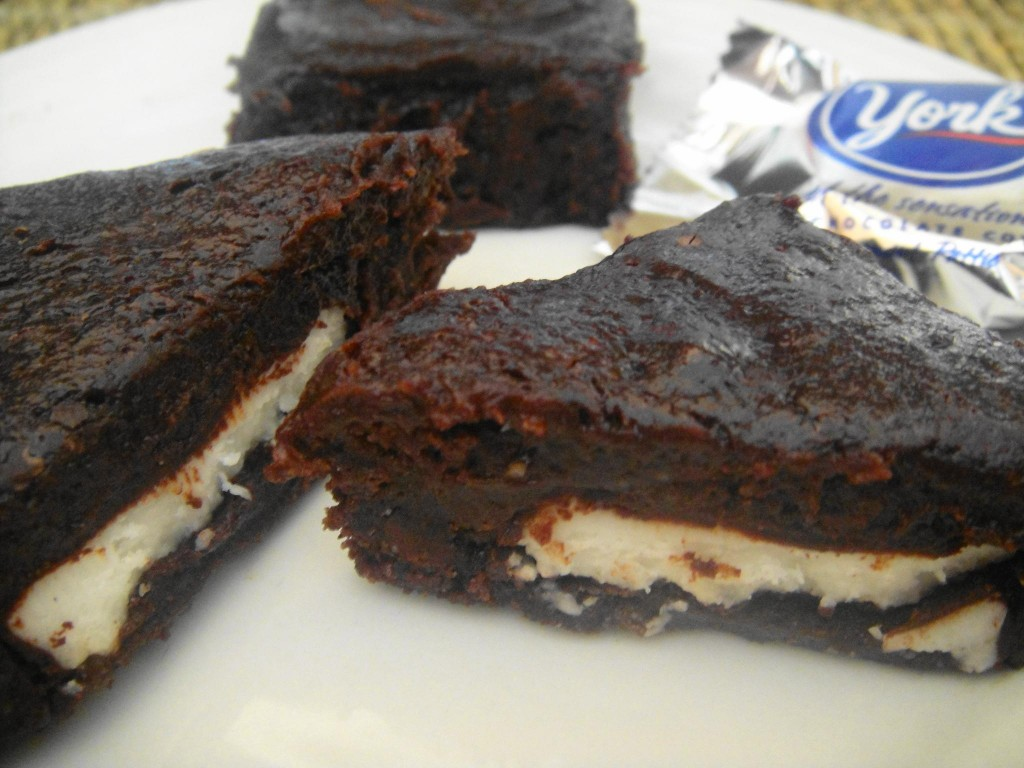 brownie peppermint patty close up