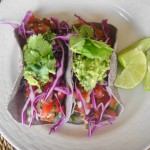 Fish Tacos with Guacamole and Pico de Gallo