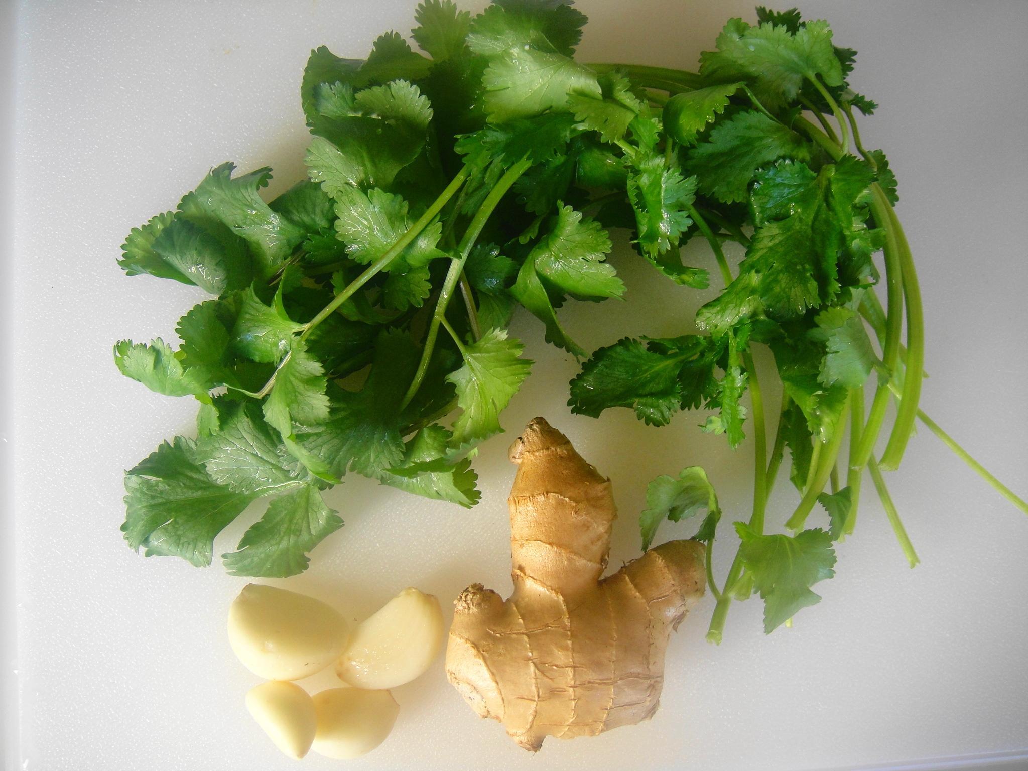 ginger garlic coriander ingredients