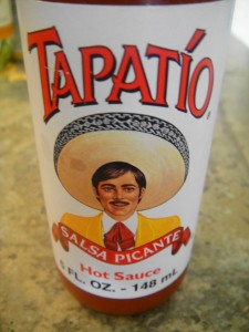 tapatio bottle close up