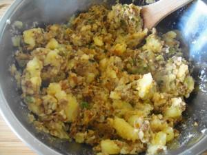 aloo chap meat + potato
