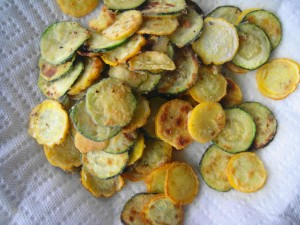 browned zucchini on plate