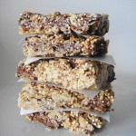 Chocolate Fig Quinoa Granola Bars