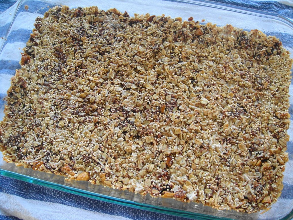 granola in tray