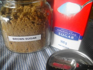 brown + white sugar