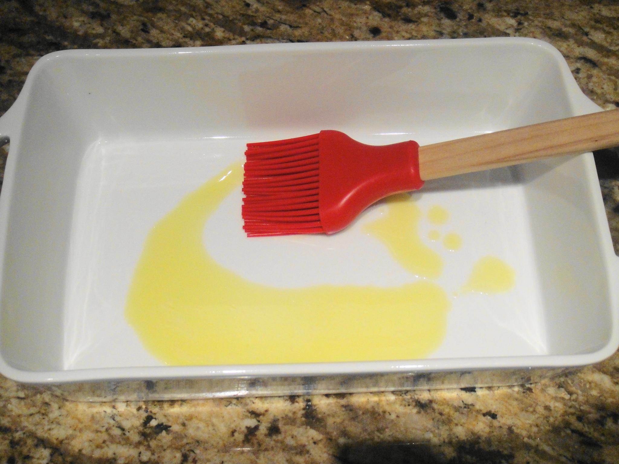 butter oil in pan