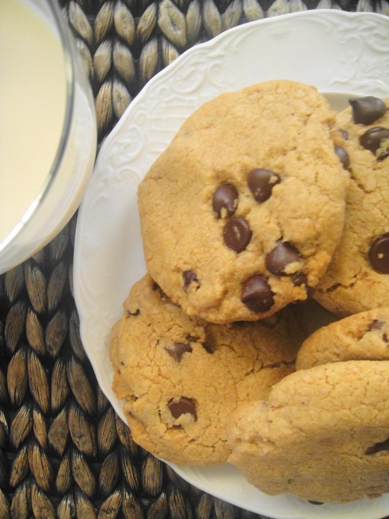 cookies with milk birdseye view