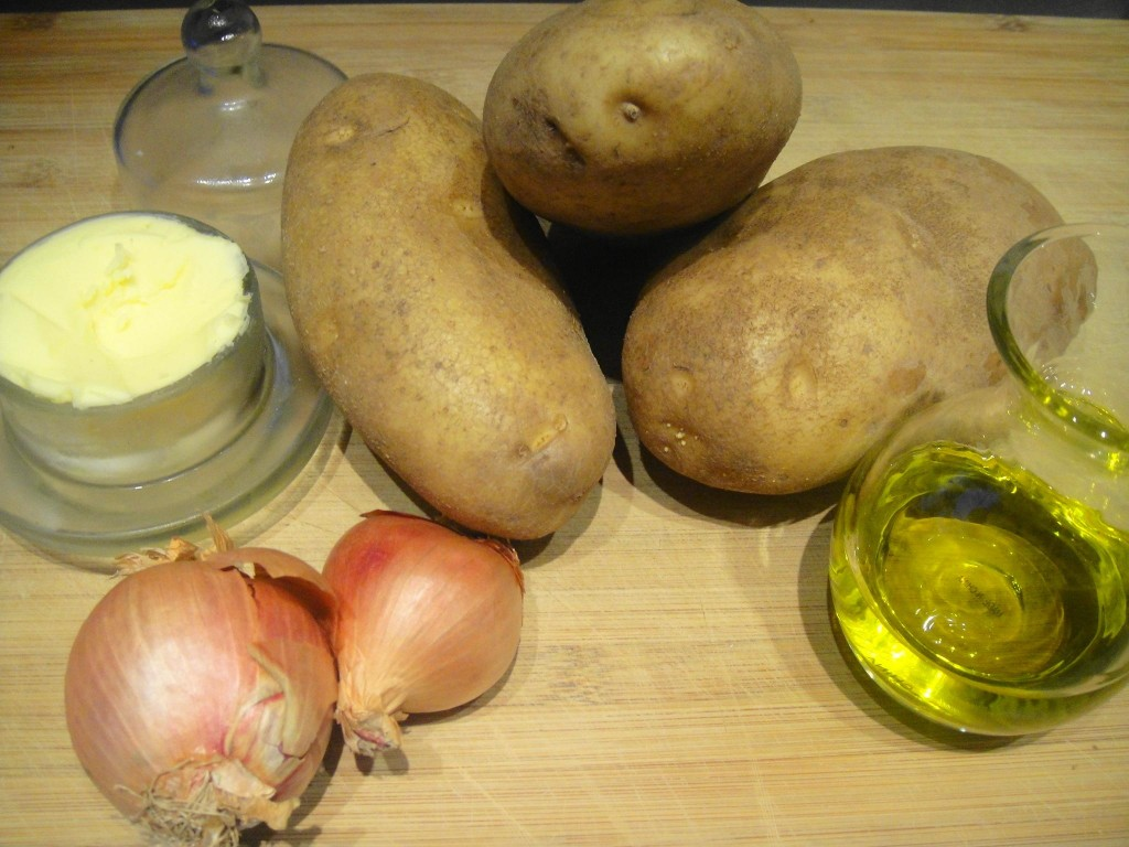 ingredients for potato roast