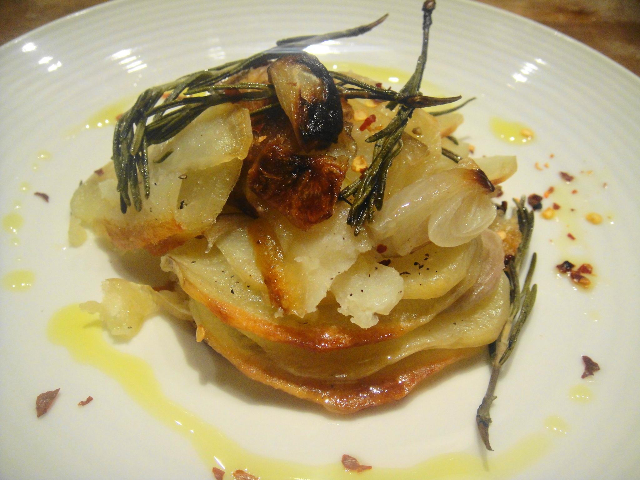 plated potato roast