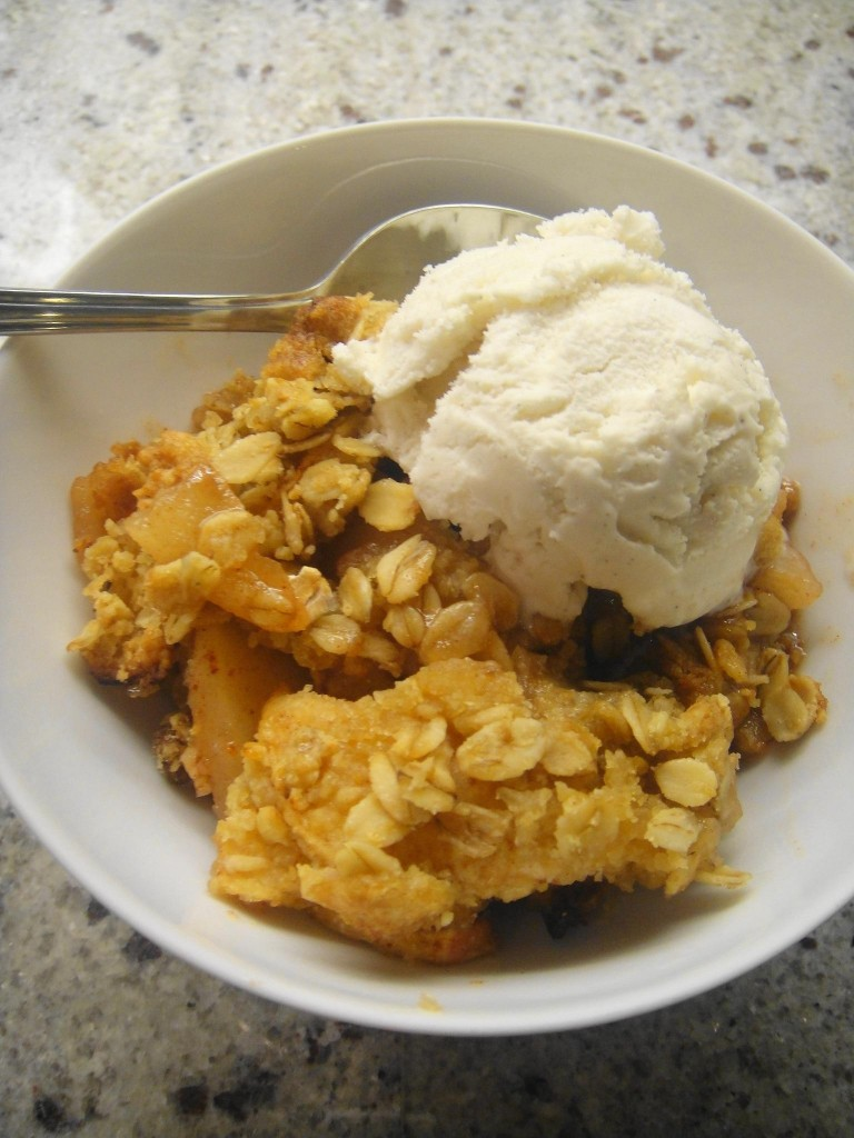 crumble w ice cream