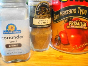 cumin coriander canned tomatoes