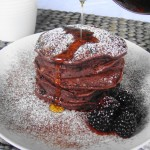 All Natural Red Velvet Pancakes