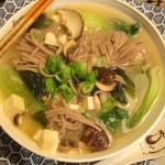 miso soup close up