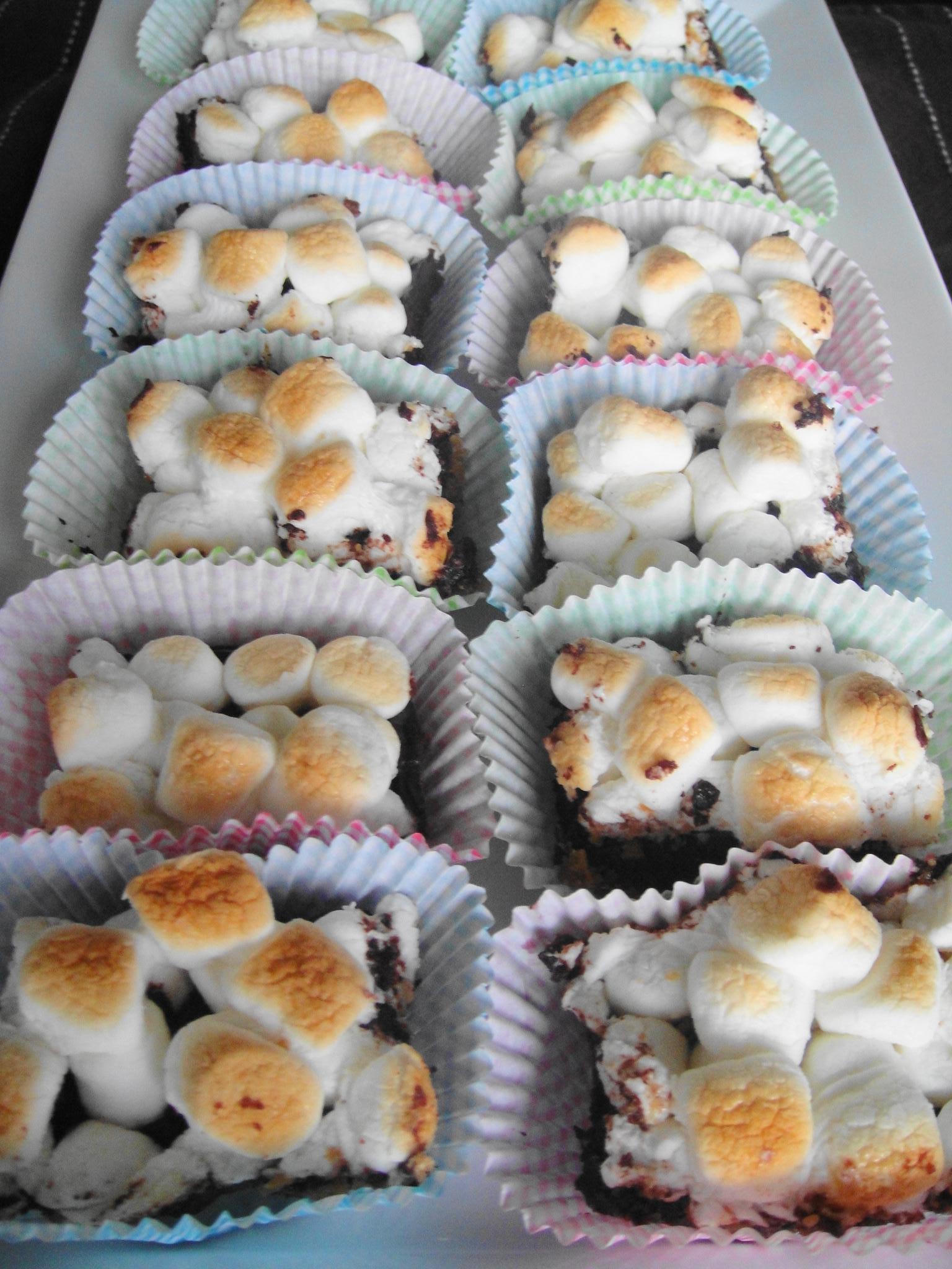 smores brownies tray