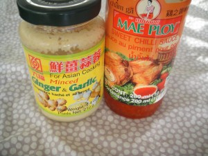 sweet chili sauce and garlic ginger