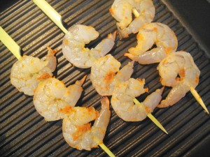 shrimp on grill