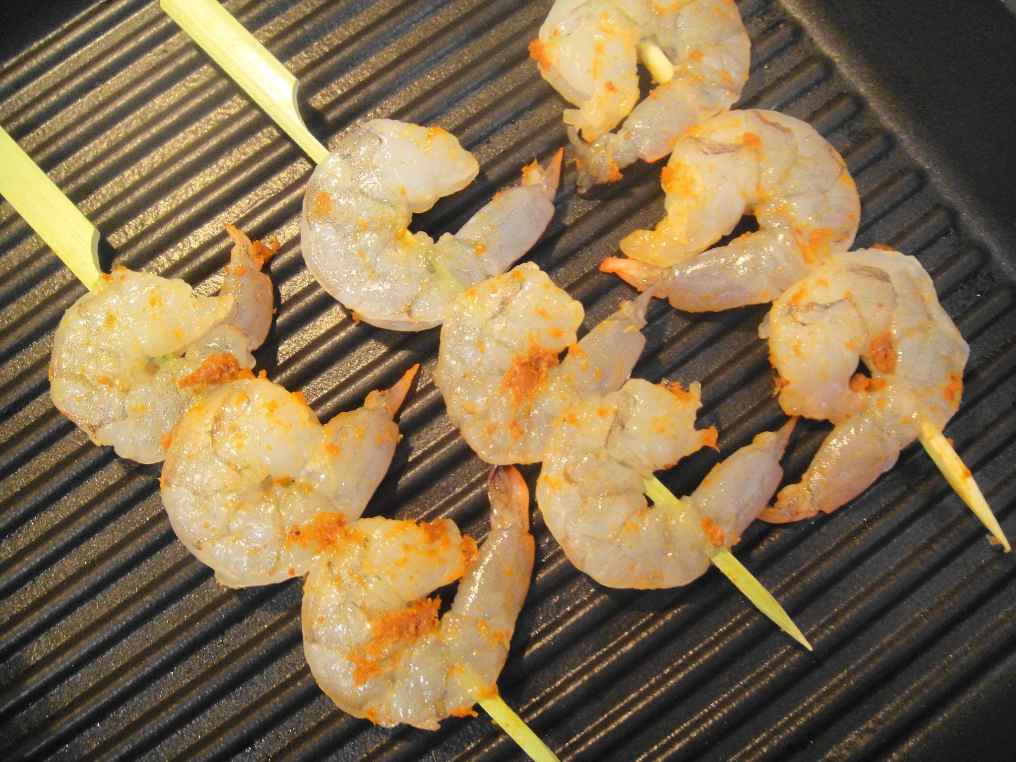 shrimp on grill