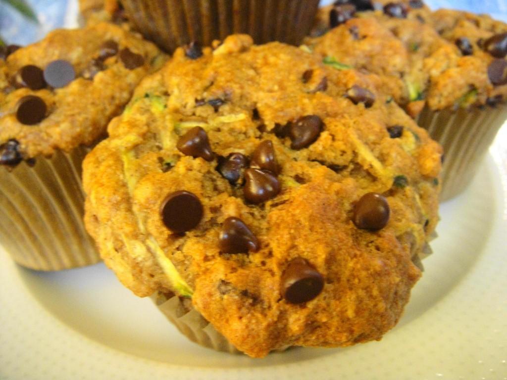 zucchini muffin close up