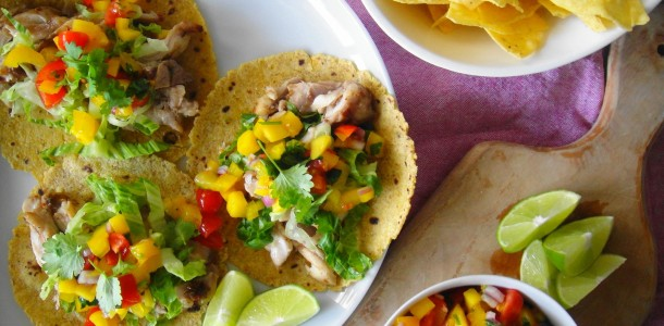 jerk chicken taco dinner