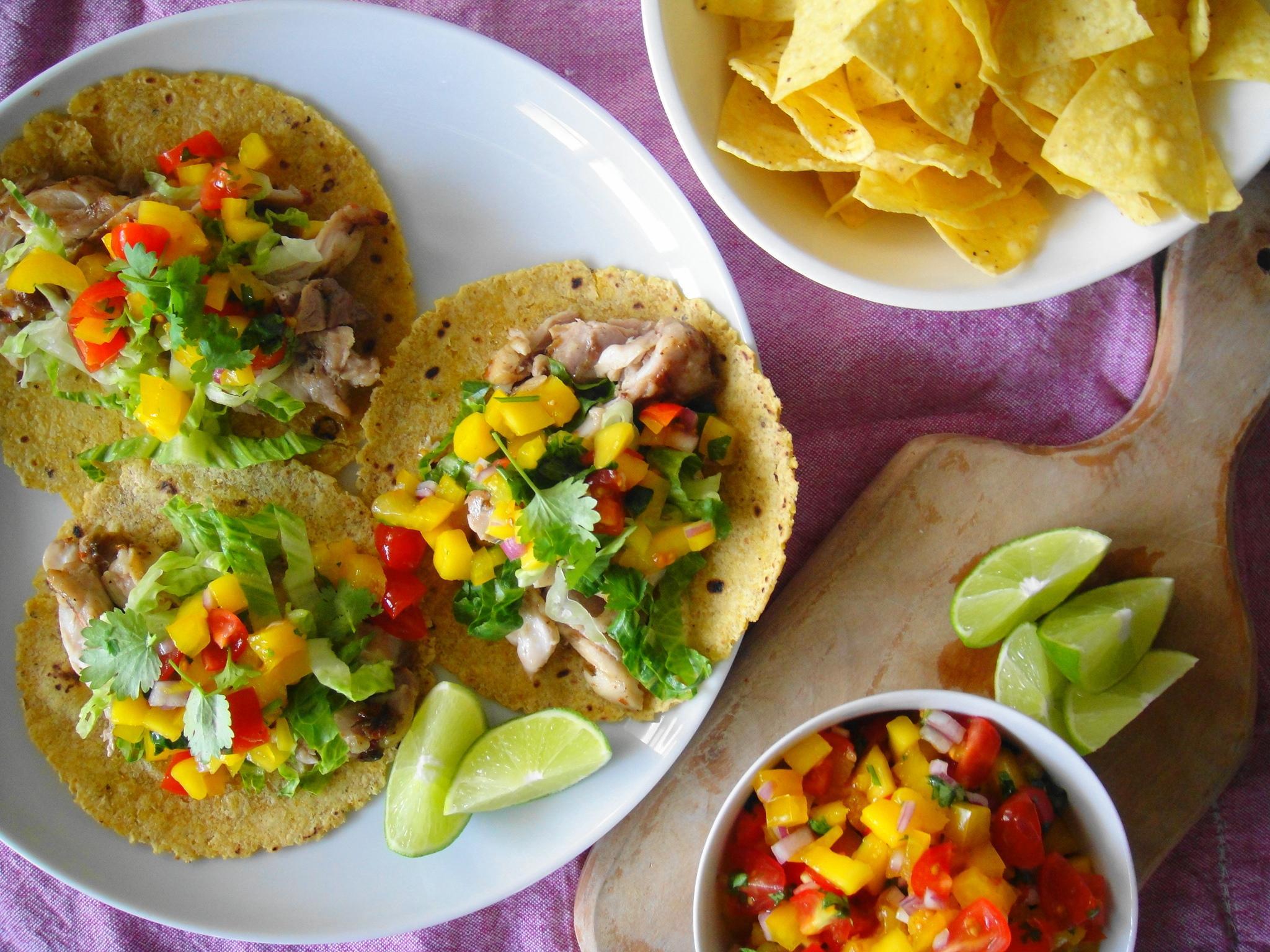 jerk chicken taco dinner