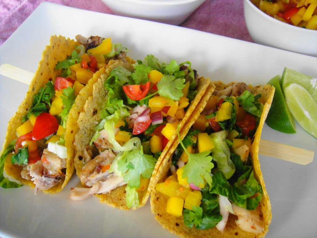 jerk chicken taco trio