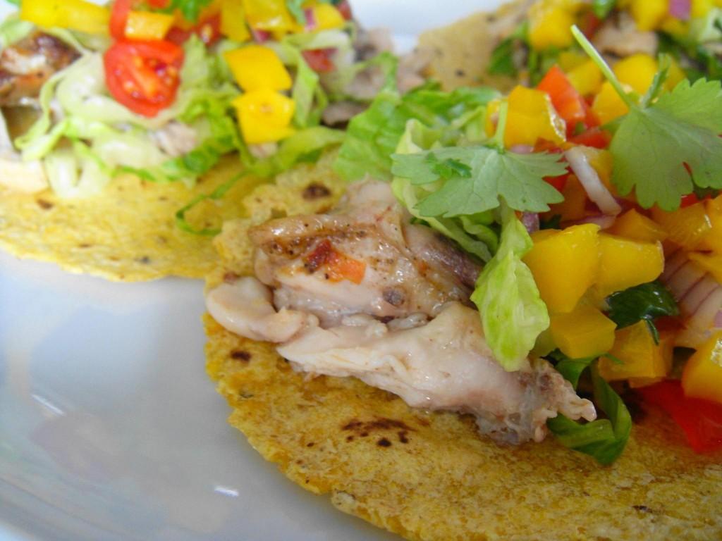 jerk taco close up