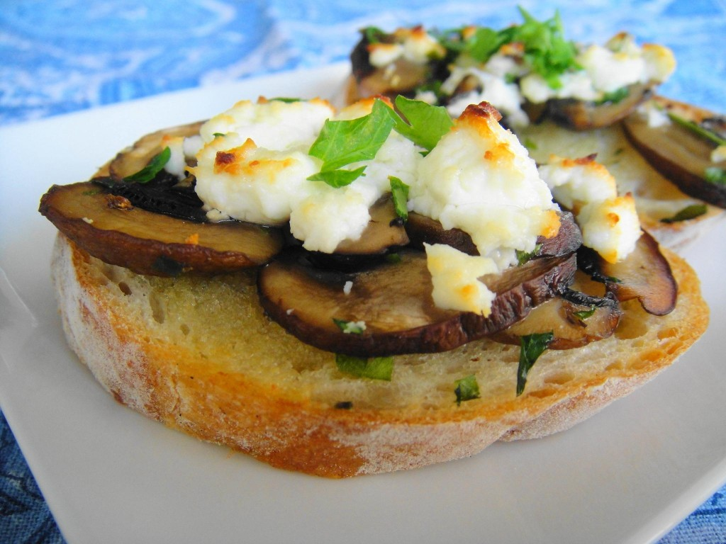 Mushroom Toasts close up