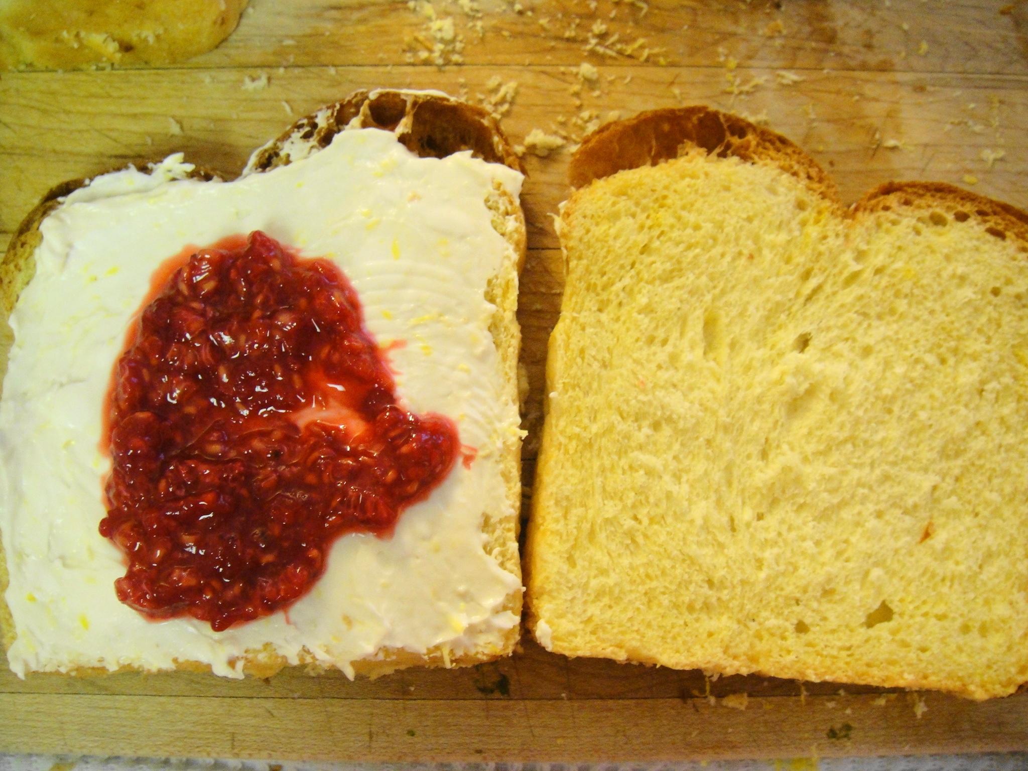 raspberry on toast