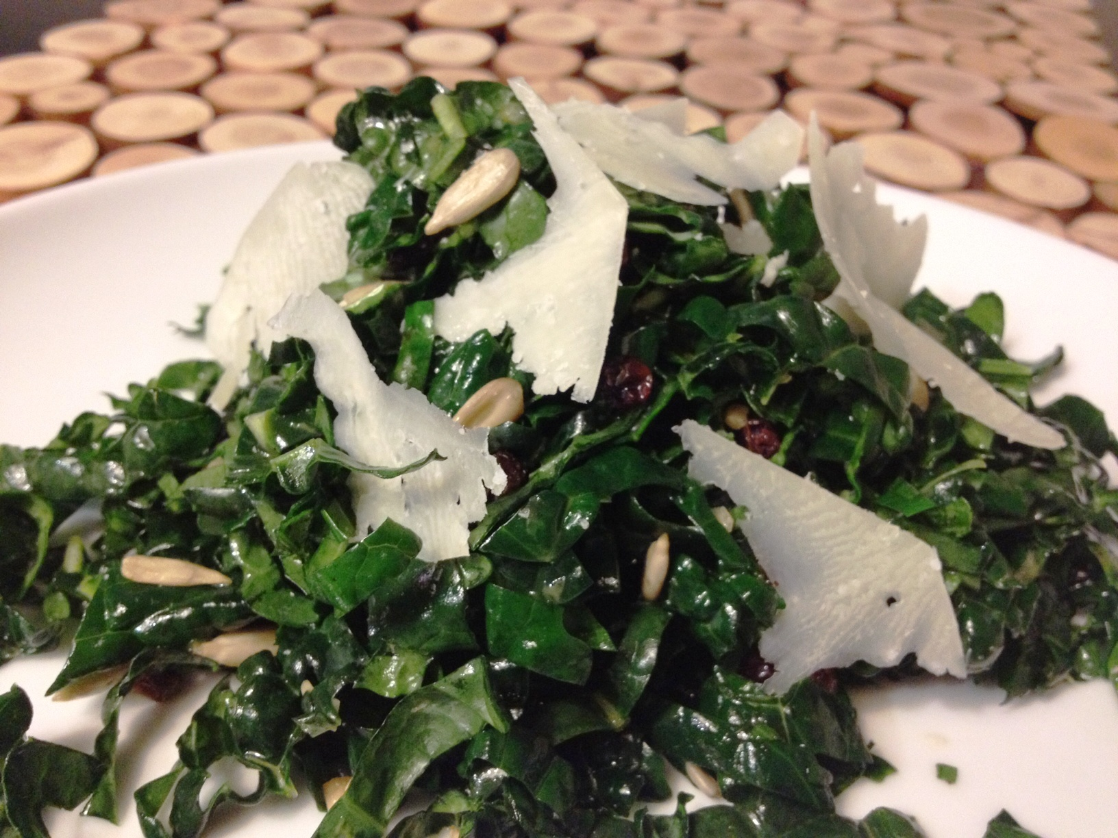 Tuscan Kale Salad with Currants and Parmesan