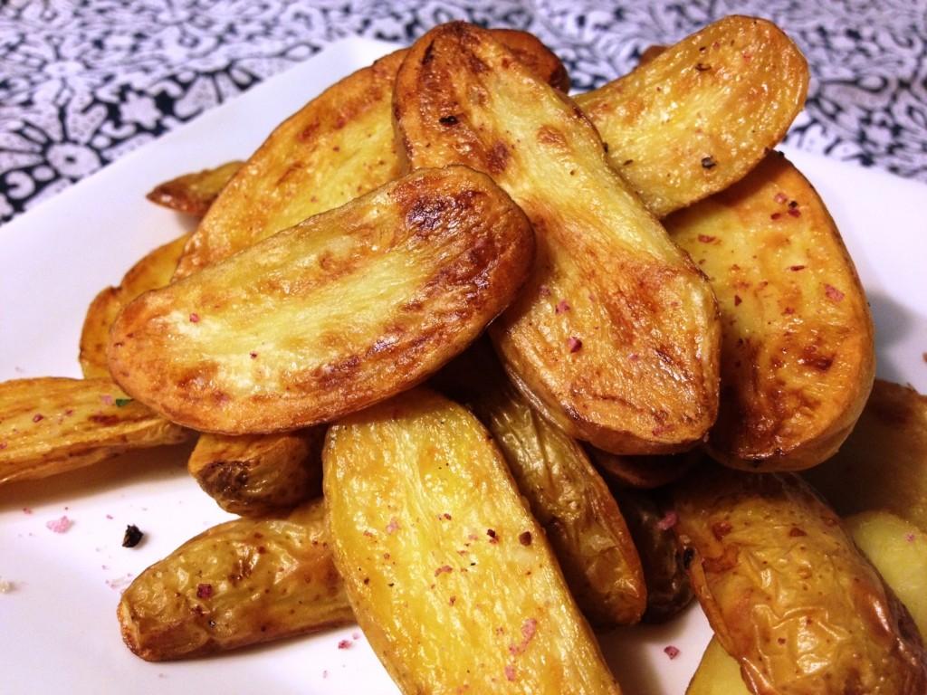 Roast Fingerling Potatoes on Napkin