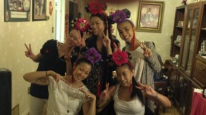 cousins with headpieces