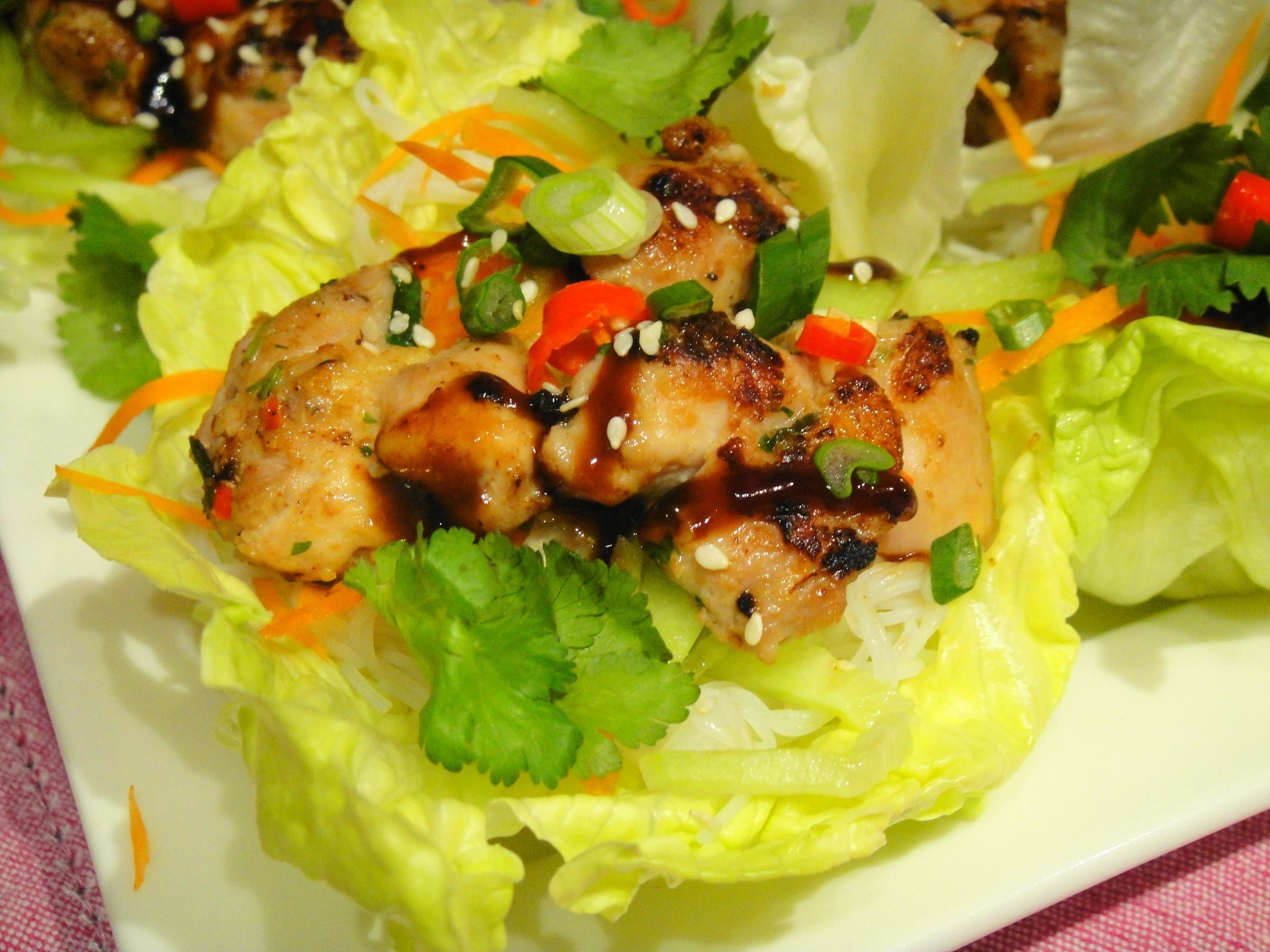 Five-Spice Chicken Lettuce Wraps