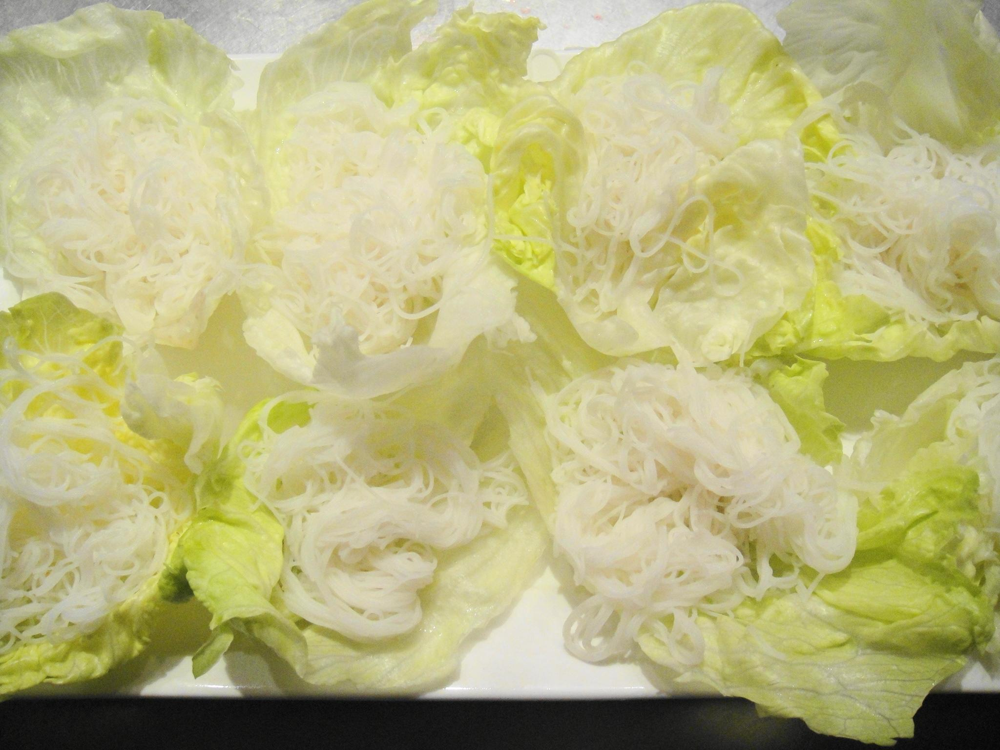 lettuce wraps rice noodles