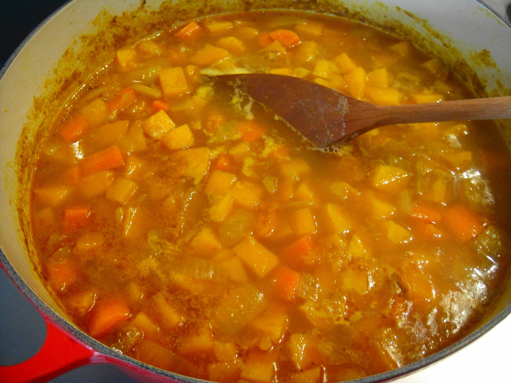 squash soup cooked