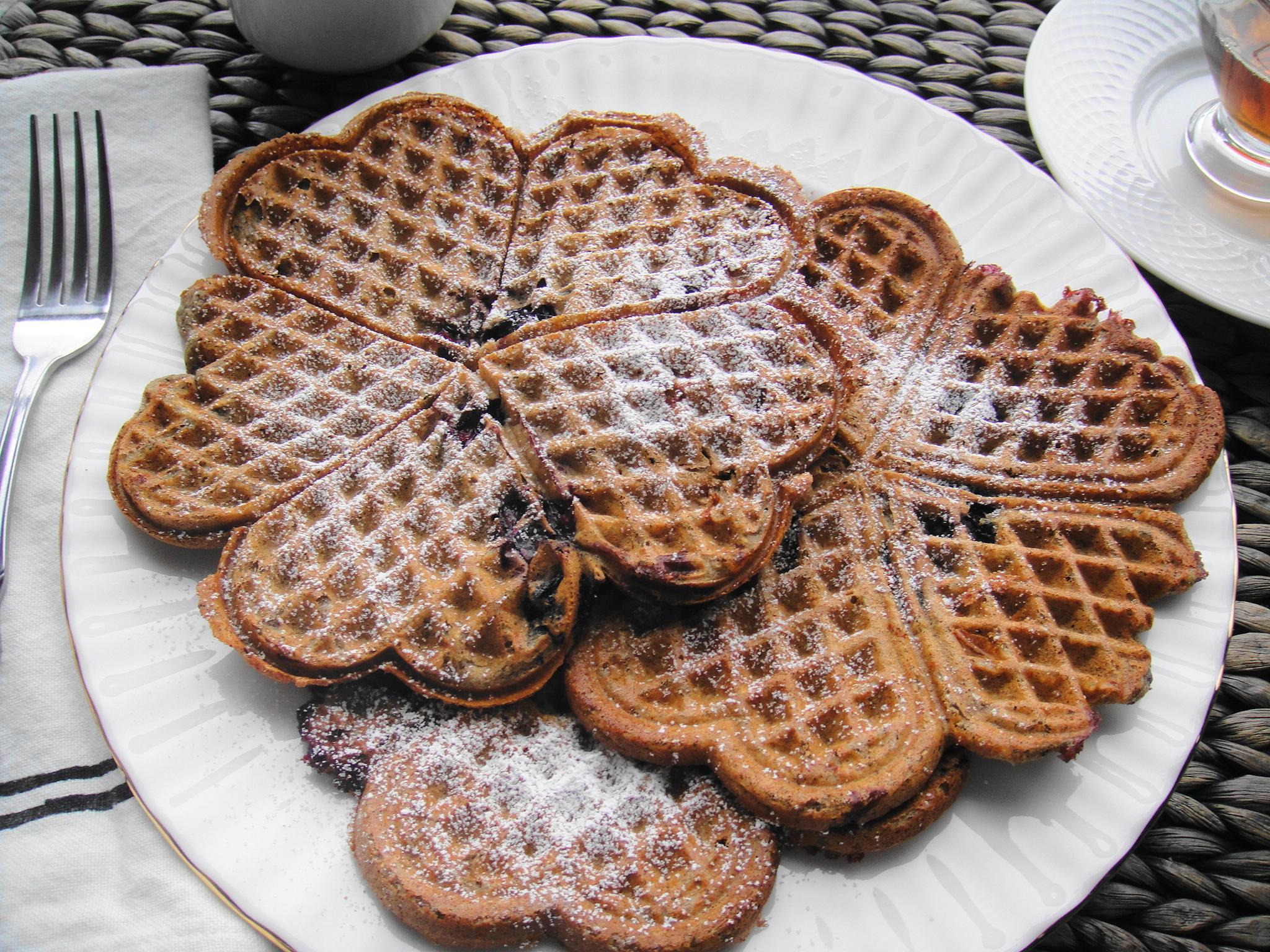 Blueberry Buckwheat Waffles