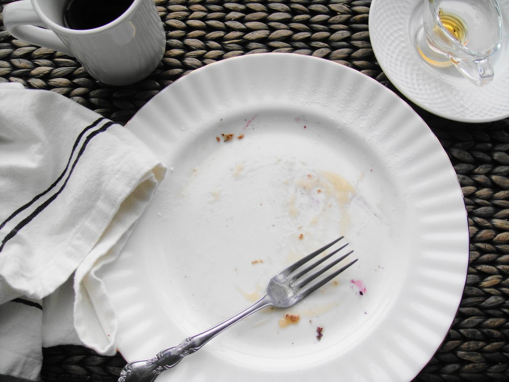waffles emplty plate