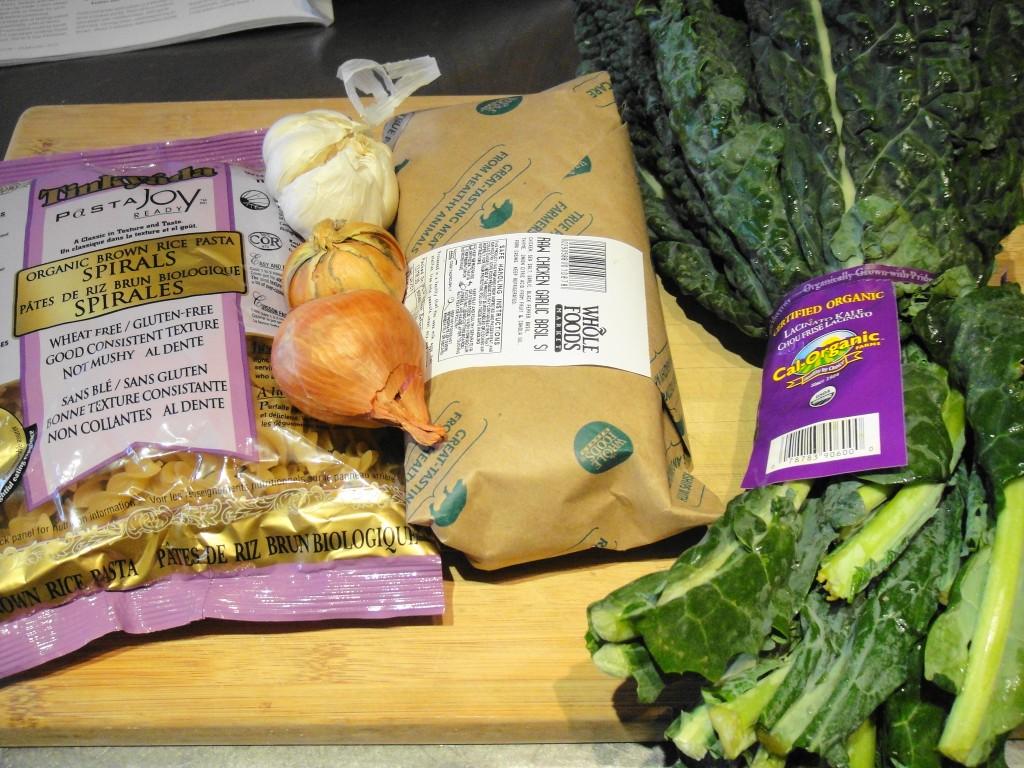 Sauage and Kale ingredients