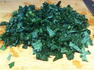 chopped kale
