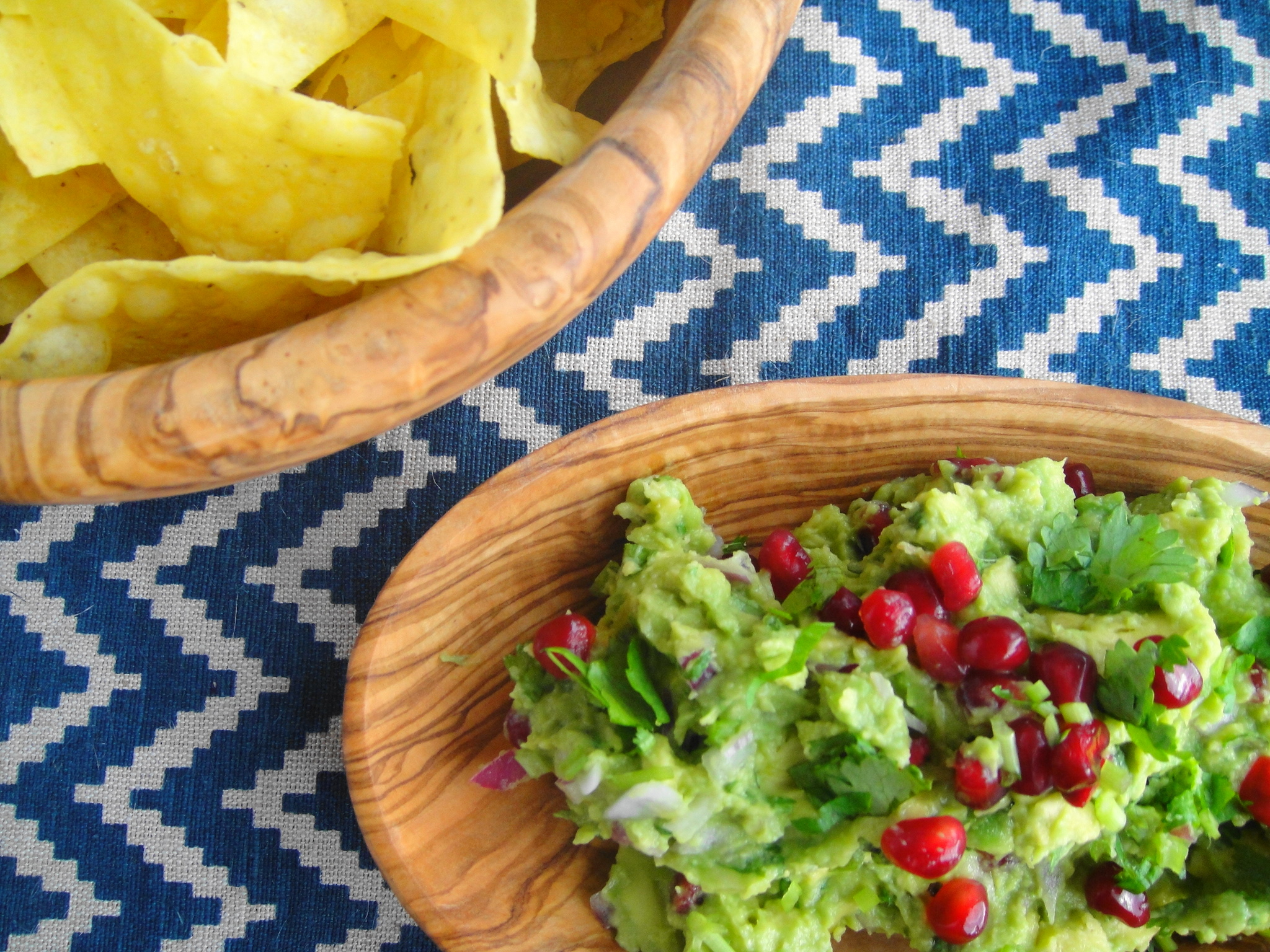 Guacamole with Pomegranates