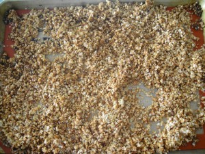 Quinoa done on tray