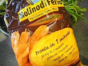 instant polenta package