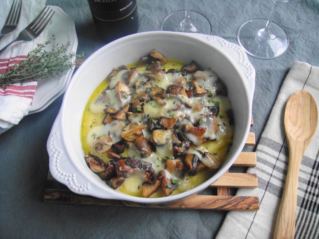mushroom and herb polenta 1