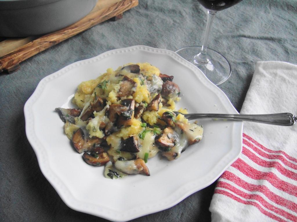 polenta on plate