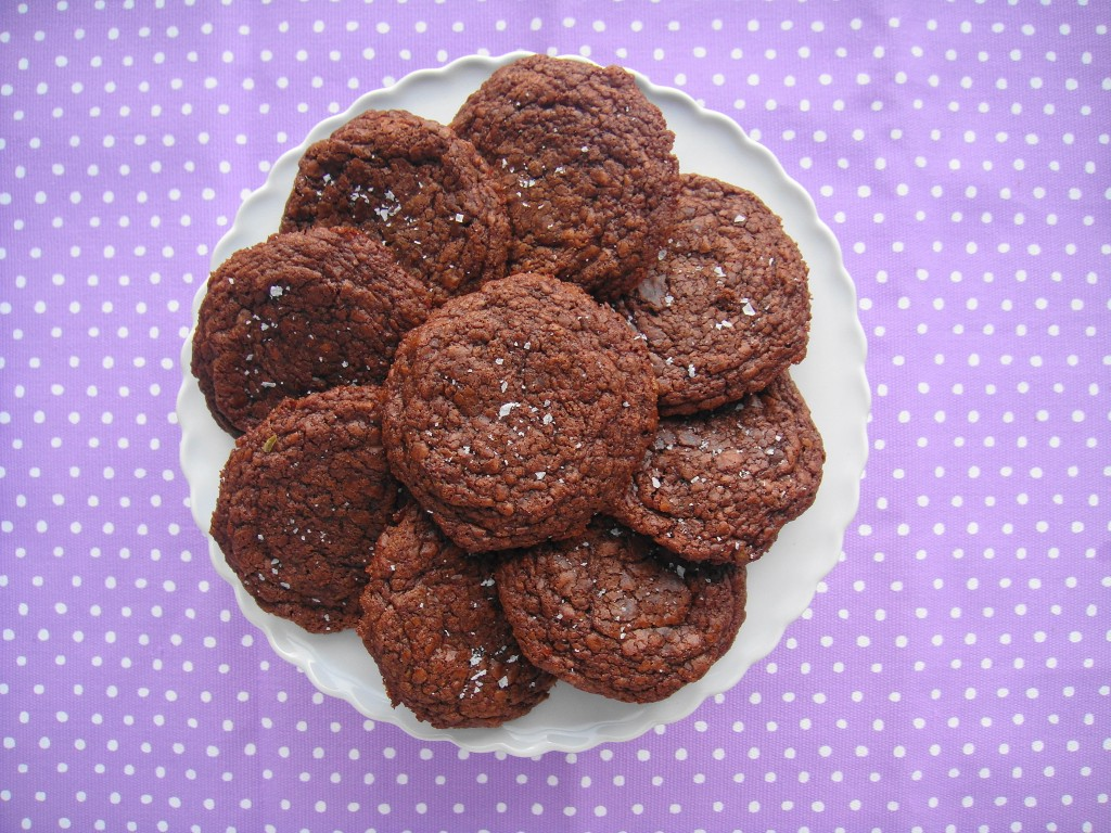 nutella cookies on side plate