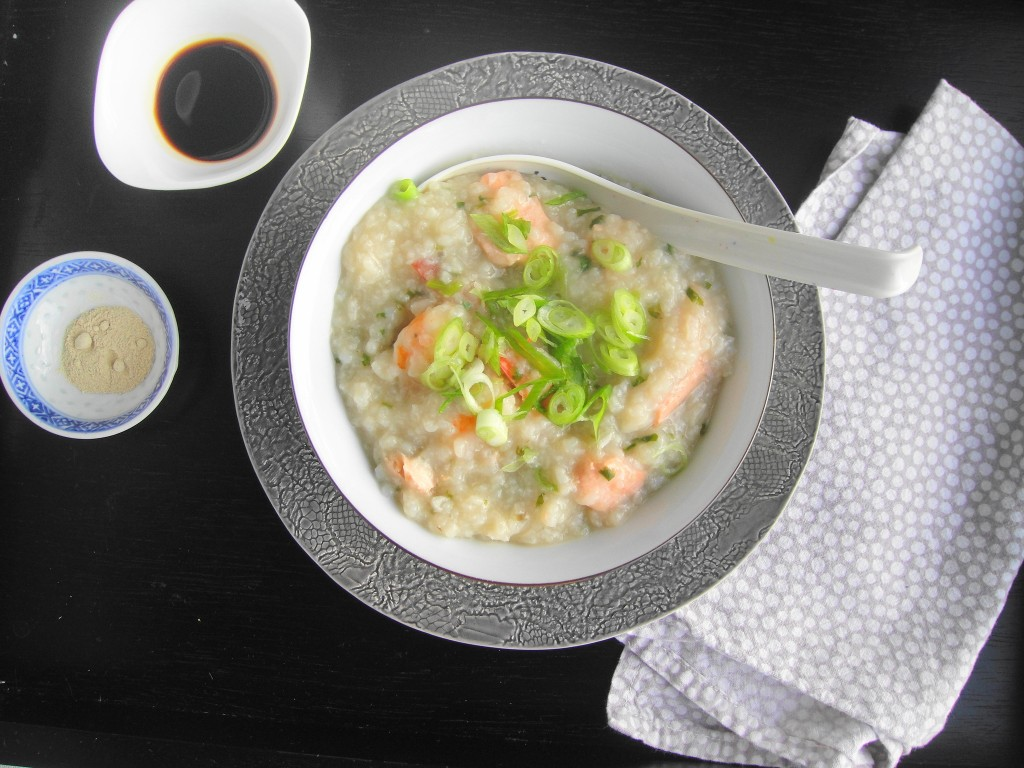 congee wtih spoon