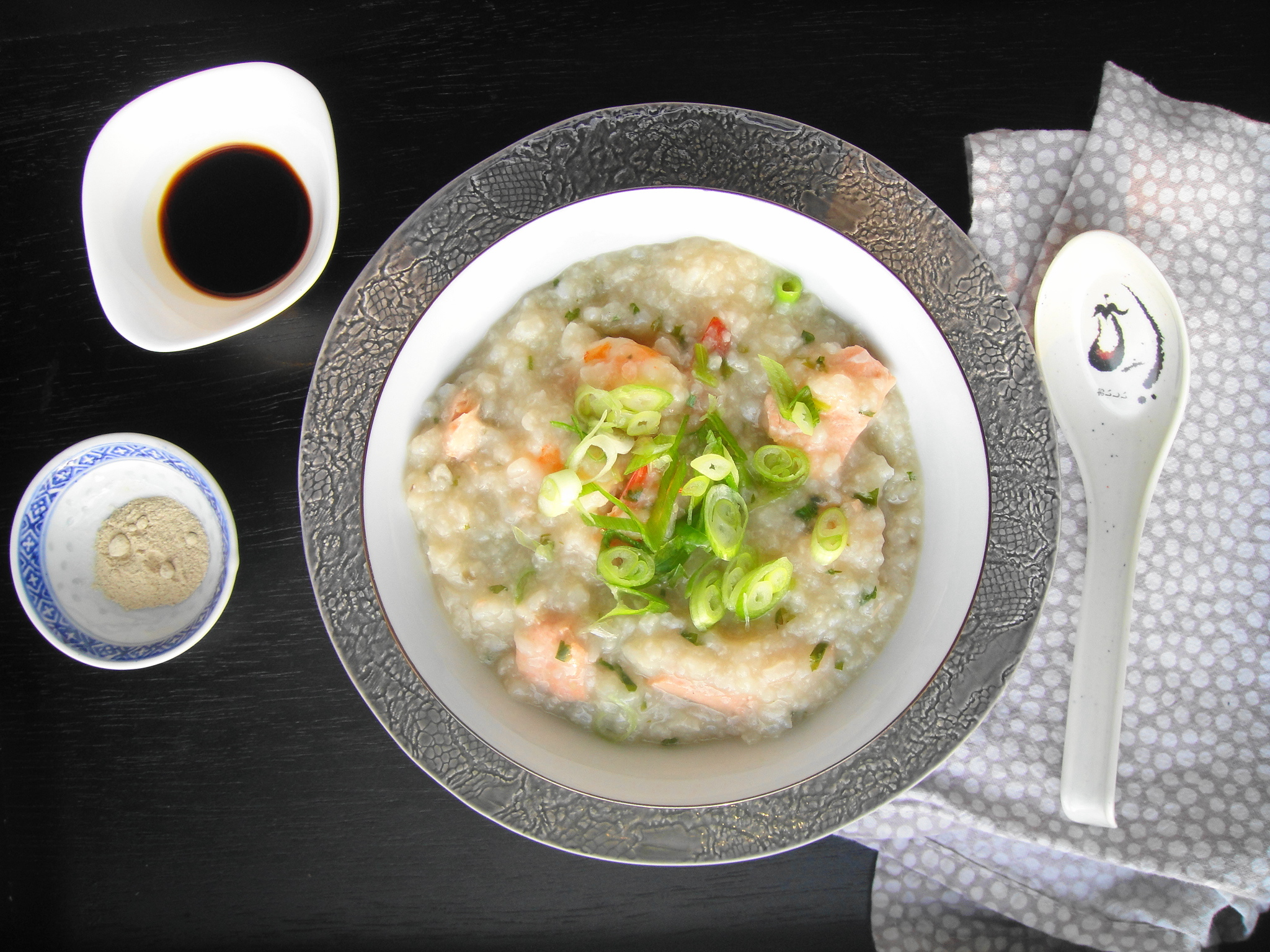 Rice Cooker Congee (Adapted from Food.com ) Serves 4