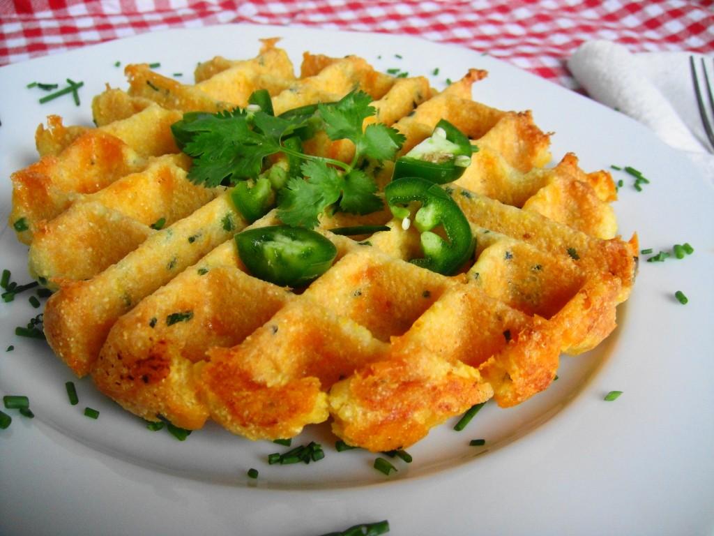 cheddar chive cornbread waffle