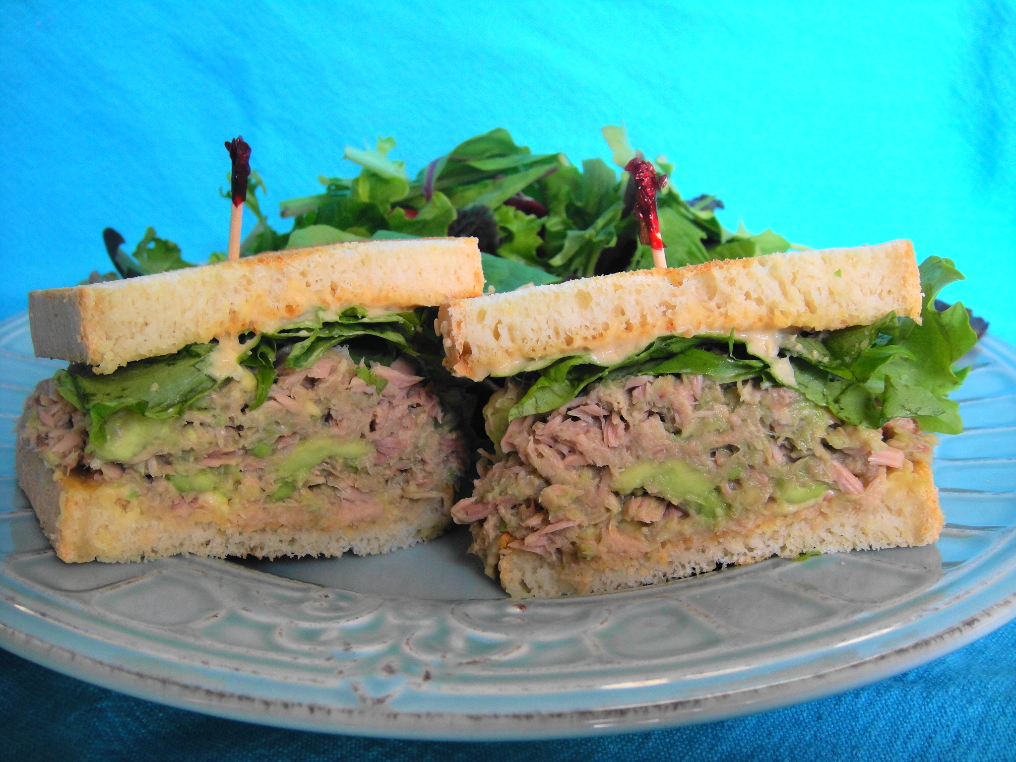 Tuna Avocado Hummus Sandwich